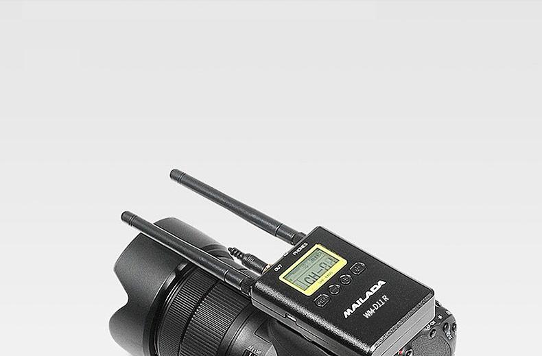 麦拉达(MAILADA) WMD11 一拖一专业影视无线采访麦克风 全金属外观