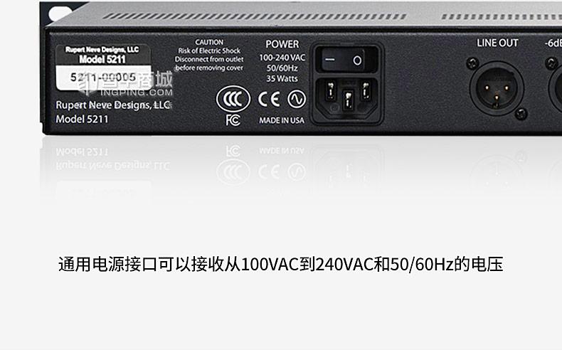 尼夫(Rupert Neve) 5211 1U标准机架 双通道话筒放大器话放