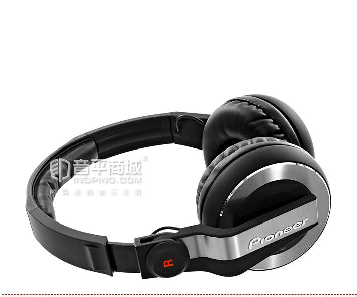先锋(Pioneer) HDJ-500 专业DJ头戴式监听耳机(黑色)