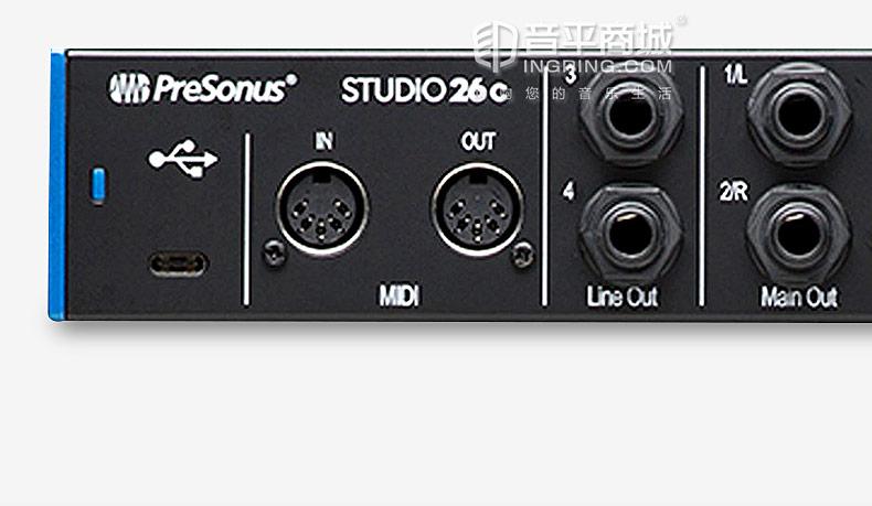 studio 26C 2进4出USB-C音频接口USB2.0