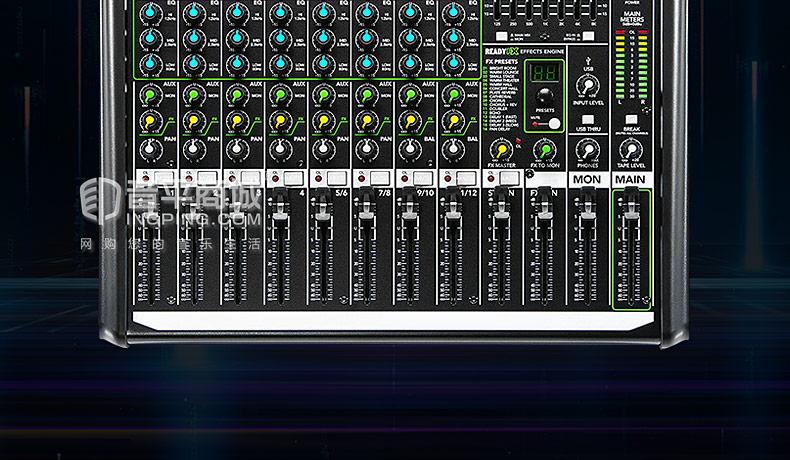 美奇(MACKIE) ProFX12V2 12通道现场调音台带USB和效果器 带效果调音台