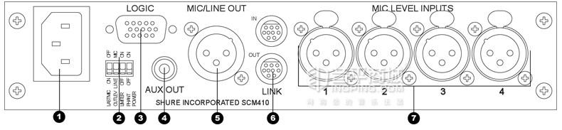 舒尔(SHURE) SCM410 数字式动混音器会议舞台混音器