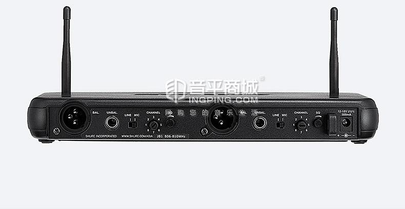 舒尔(SHURE) SVX188-CVL 领夹式无线麦克风 舞台演出/演讲会议(一拖二)