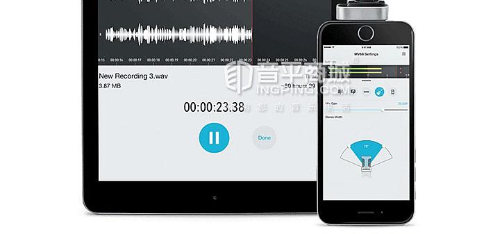 MV88 数字手机麦克风 电容录音话筒