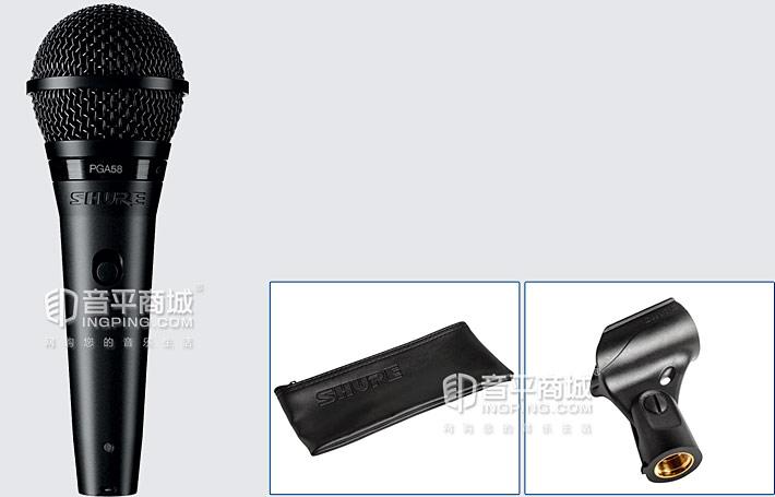 PGA58-LC 动圈麦克风有线话筒演出家用K歌KTV麦克风包装清单