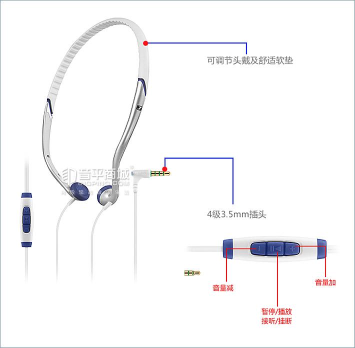 森海塞尔(Sennheiser) PX685i 头戴式运动耳机 (黑色)