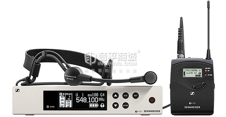森海塞尔(Sennheiser) EW100 G4-ME3 KTV/演出头戴无线麦克风(一拖一)