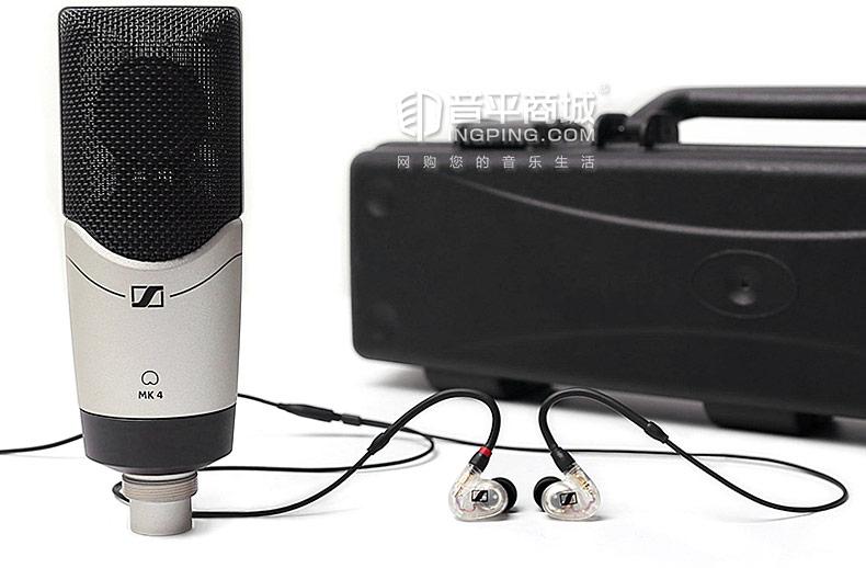 森海塞尔(Sennheiser) MK4套装(MK4麦克风+话筒收纳盒+IE40耳机黑色、透明)