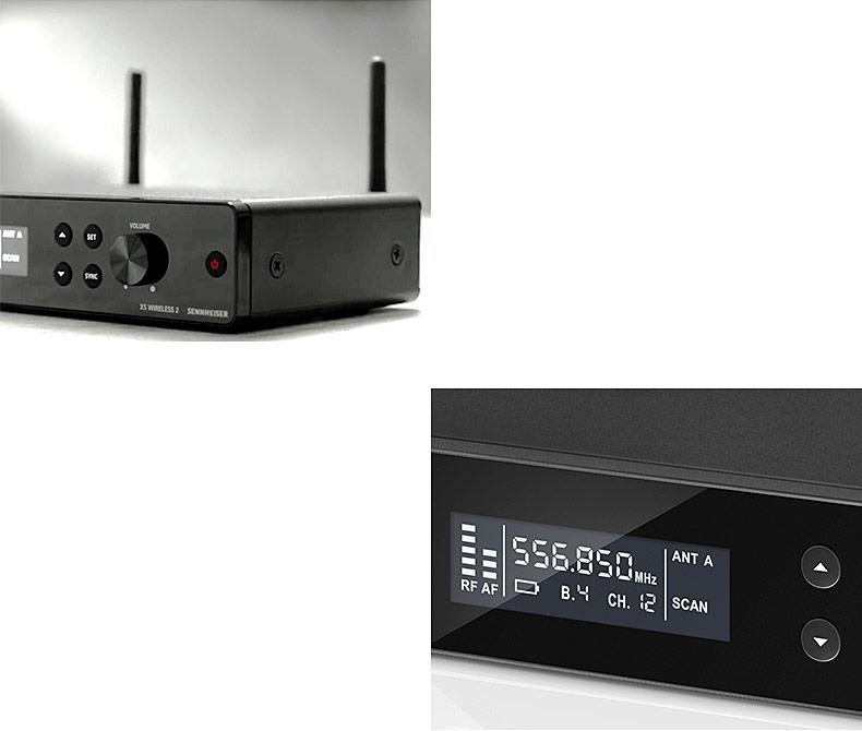 森海塞尔(Sennheiser) XSW2-865 舞台演出手持式无线电容人声麦克风(一拖一)