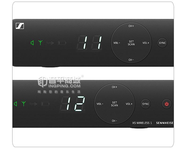 森海塞尔(Sennheiser) XSW1-825 DUAL 双通道舞台无线动圈麦克风(一拖二)