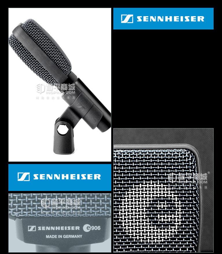 森海塞尔(Sennheiser) E906 动圈式中频乐器麦克风