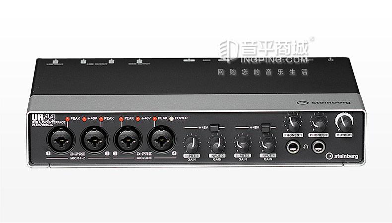 雅马哈(steinberg) UR44 专业录音外置USB声卡 6进4出