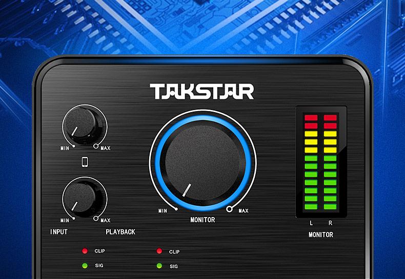胜(TAKSTAR) MX630 便捷式网络直播专业声卡 手机直播网络k歌主播声卡
