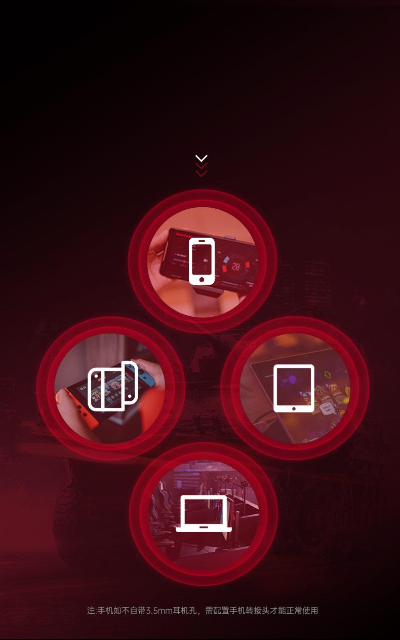 得胜(TAKSTAR) 驰SPRINT入耳式电竞耳机自由玩家手机游戏神器耳麦