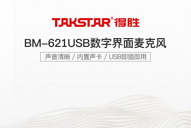 得胜(TAKSTAR) BM-621USB 数字界面麦克风 连接手机/PAD/电脑