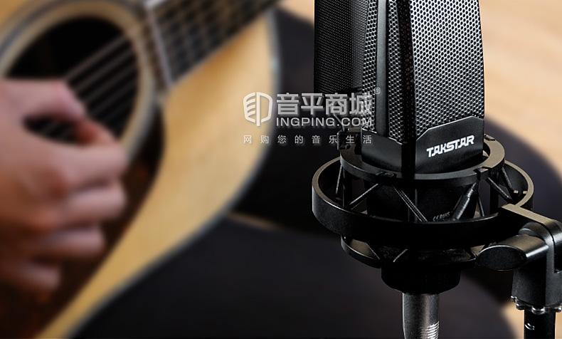 得胜(TAKSTAR) SM-18 专业录音电容麦克风 网络K歌主播直播麦克风话筒