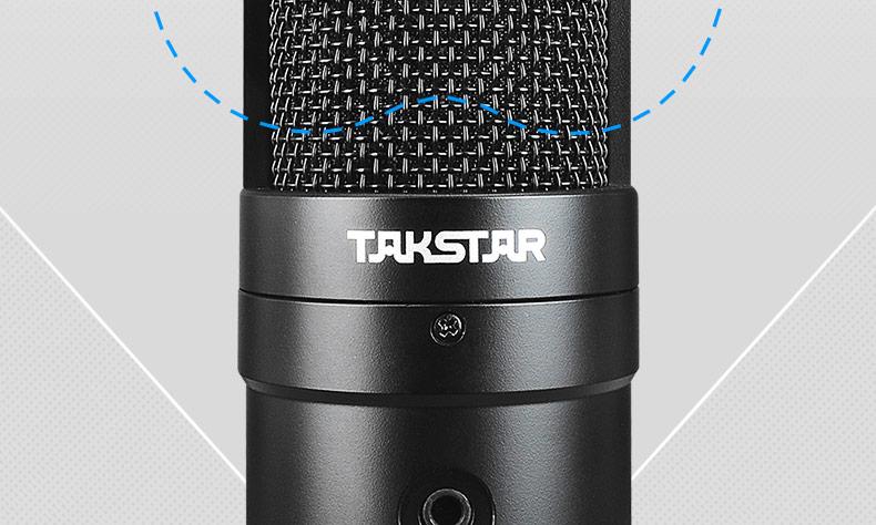 得胜(TAKSTAR) PC-K220USB 电容式录音麦克风 主播直播K歌USB直插麦克风