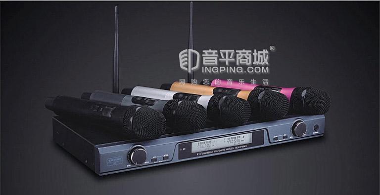 X6 UHF无线麦克风 接收机 手持麦克风 适配器  智能匹配无干扰频率