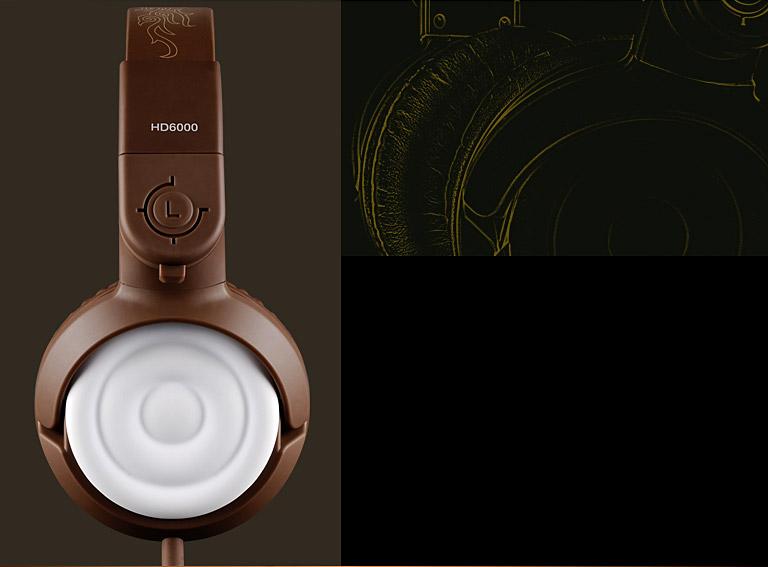 得胜(TAKSTAR) HD 6000 动圈式音乐耳机 (咖啡色)