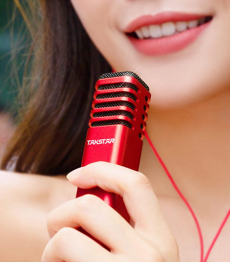 得胜(TAKSTAR) PH 125 电容式手机K歌直播麦克风 支持双手机直播