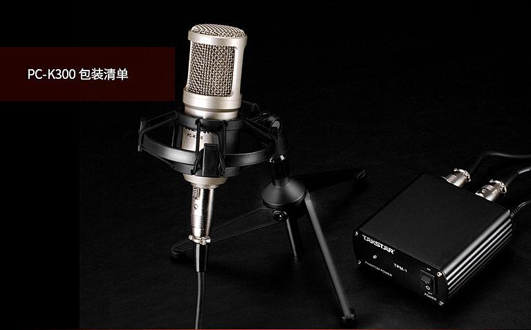 得胜(TAKSTAR) PC-K300 电容式录音麦克风套装