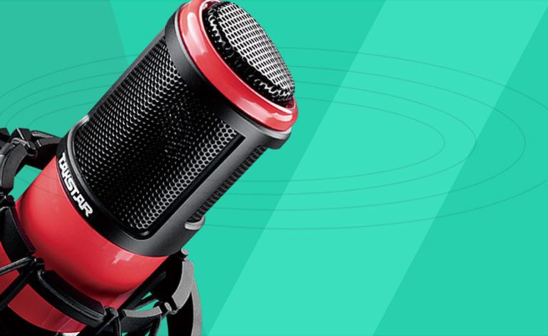 得胜 科声 得胜科声 PC-K320 旁述式电容麦克风 电容麦 人声录音 乐器录音 电容音头 驻极体 频率宽广