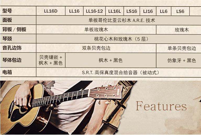 雅马哈LL16D电箱吉他