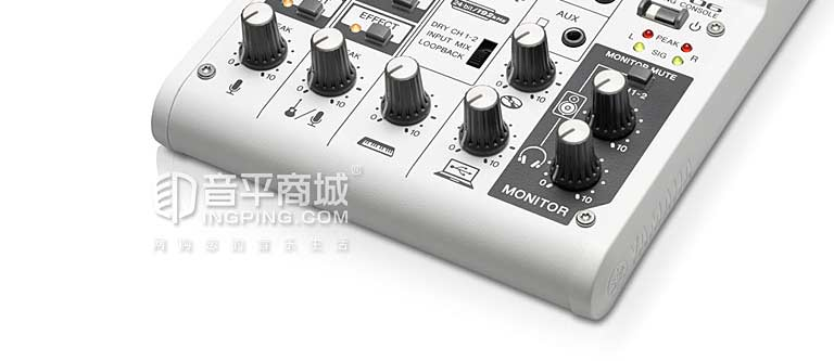 AG06 带声卡小型音乐调音台 USB供电设计 高音质 内置丰富效果 主播新宠 AG06 网络直播 K歌 带声卡调音台