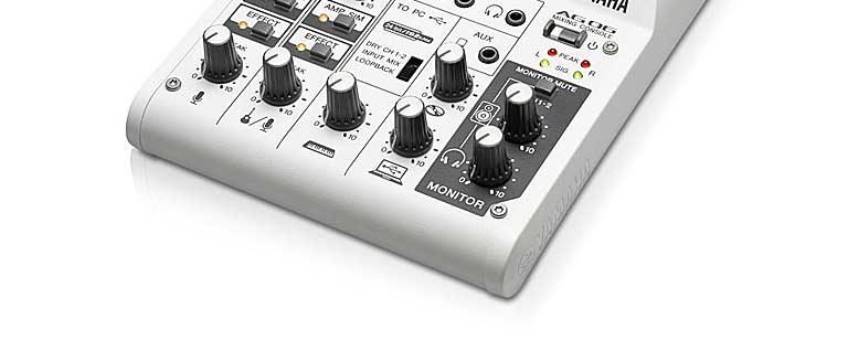 AG06 带声卡小型音乐调音台 USB供电设计 高音质 内置丰富效果 主播新宠 D-PRE话放