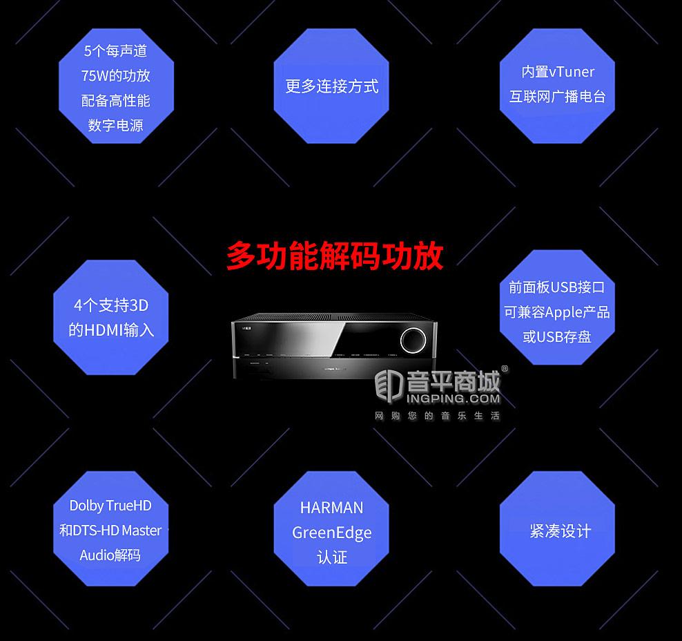 哈曼卡顿HKTS 30BQ 家庭影院套装